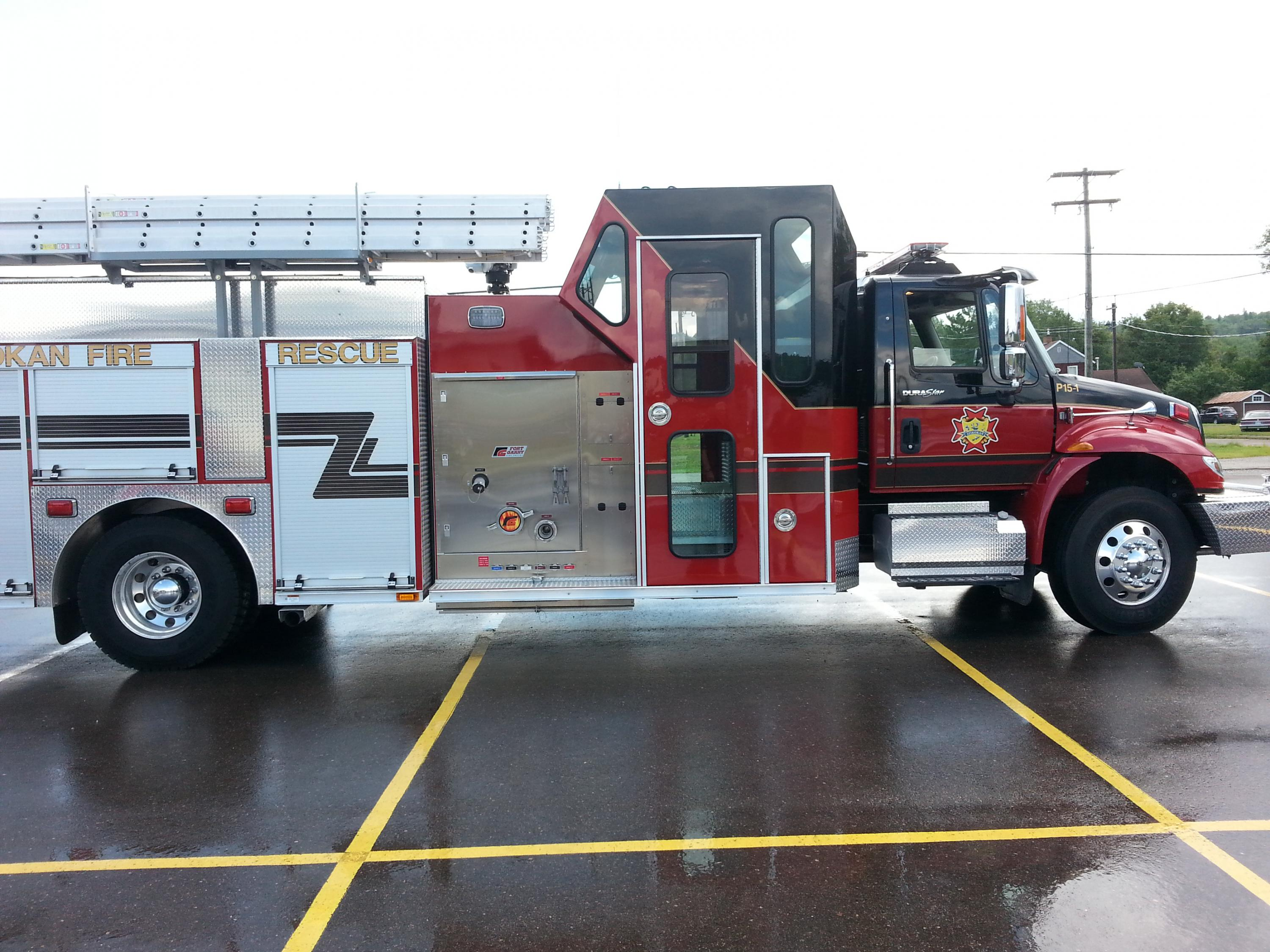 sideview of firetruck